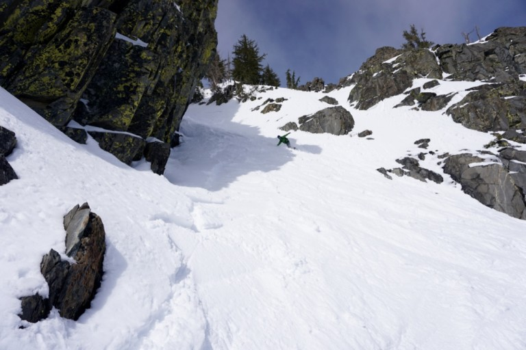 Bottom Section of the Upper Cross Couloir